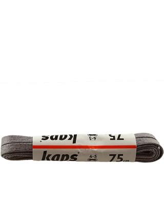 Ciemnoszare, płaskie, woskowane sznurówki do butów, 75 cm, Kaps