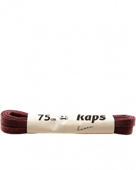 Bordowe, płaskie, woskowane sznurówki do butów, 120 cm, Kaps