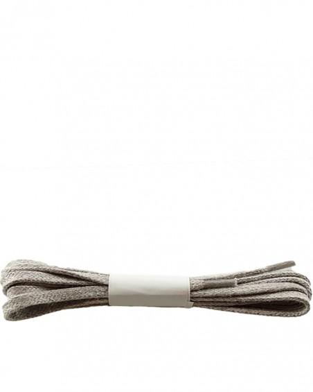 Jasnoszare, płaskie, woskowane sznurówki do butów, 180 cm, Halan