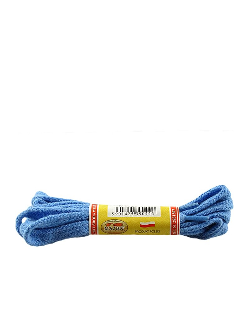 Niebieskie, płaskie sznurówki do butów, 120 cm, Mazbit