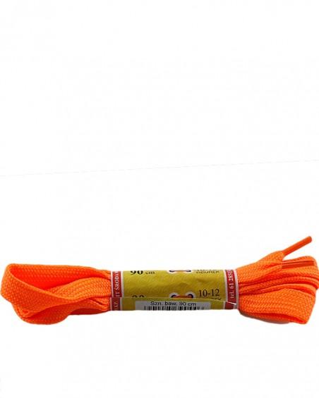 Pomarańczowe, płaskie sznurówki do butów, sport, 10, 90 cm, Mazbit