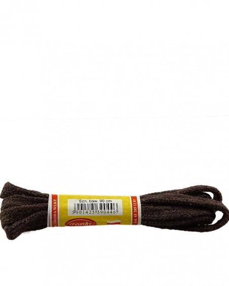 Ciemnobrązowe, płaskie sznurówki do butów, 120 cm, Mazbit
