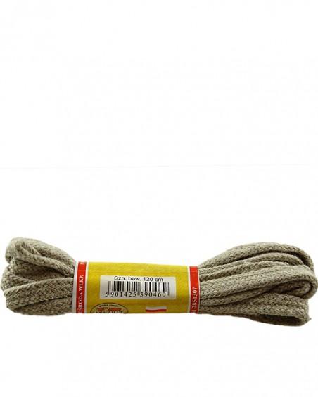 Beżowe, płaskie sznurówki do butów, 90 cm, Mazbit