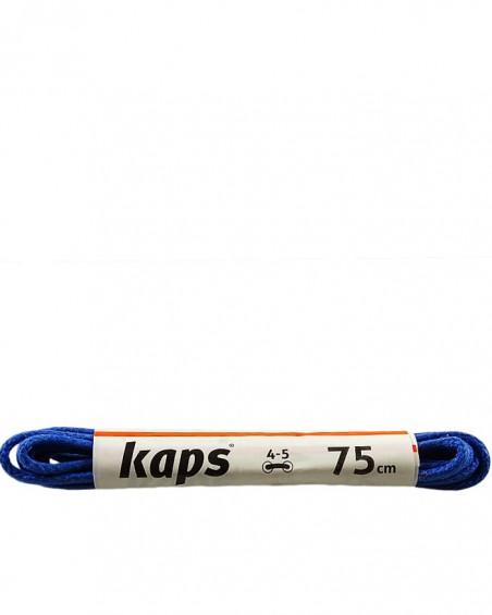 Niebieskie, cienkie, woskowane sznurówki do butów, 75 cm, Kaps