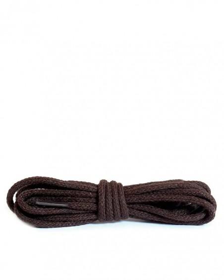 Ciemnobrązowe, cienkie, sznurówki do butów, 45 cm, Kaps