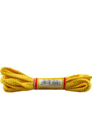 Żółte, płaskie sznurówki do butów, 100 cm, Mazbit