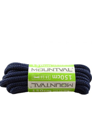 Granatowe, trekkingowe sznurówki do butów, 150 cm, Mountval
