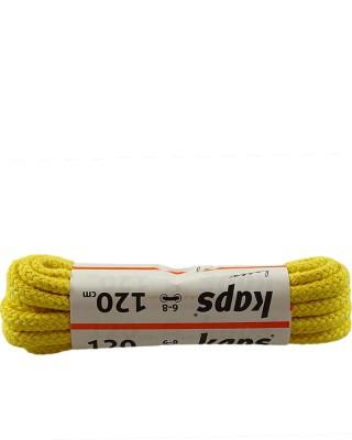 Żółte, grube, sznurówki do butów, 120 cm, Kaps