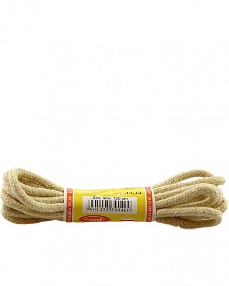 Jasnobeżowe, grube, sznurówki do butów, 120 cm, Mazbit