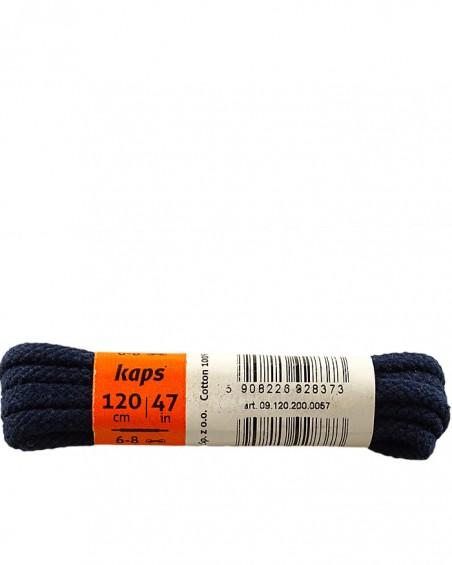 Granatowe, grube, sznurówki do butów, 120 cm, Kaps