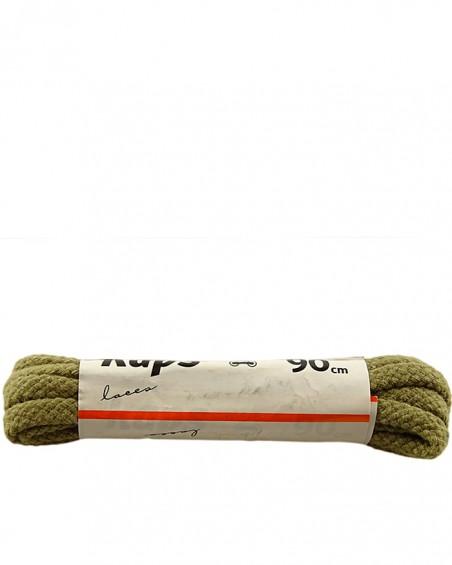 Oliwkowe, grube, sznurówki do butów, 75 cm, Kaps