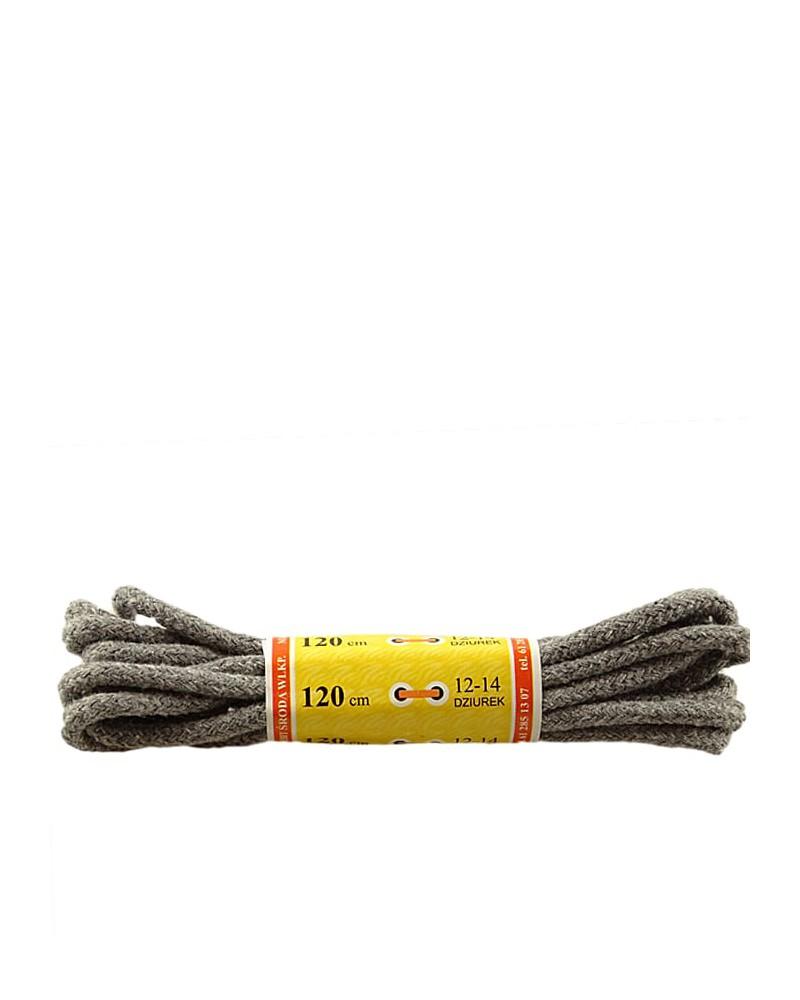 Jasnoszare, grube, sznurówki do butów, 120 cm, Mazbit
