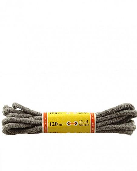 Jasnoszare, grube, sznurówki do butów, 75 cm, Mazbit