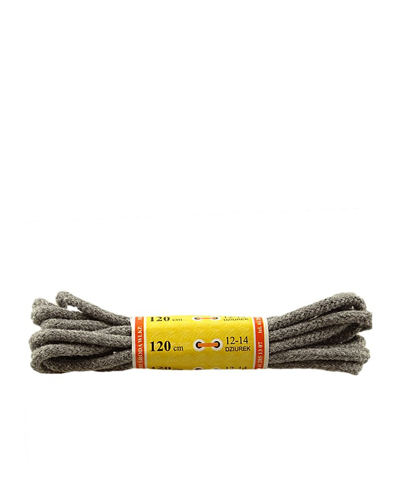 Jasnoszare, grube, sznurówki do butów, 90 cm, Mazbit