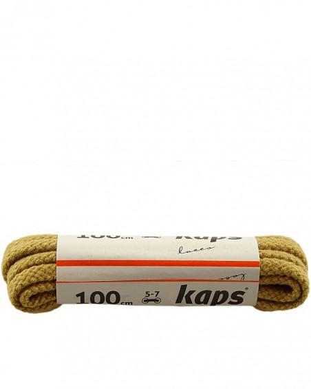 Beżowe, grube, sznurówki do butów, 100 cm, Kaps