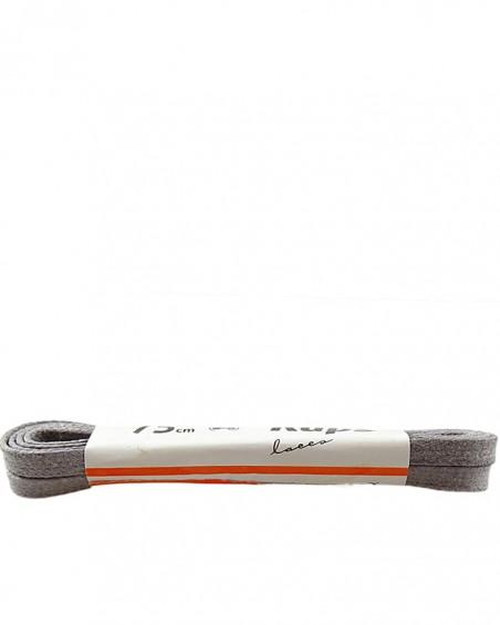 Jasnoszare, płaskie, woskowane sznurówki do butów, 75 cm