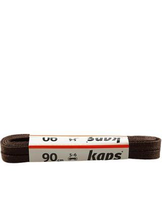 Ciemnobrązowe, płaskie, woskowane sznurówki do butów, 90 cm