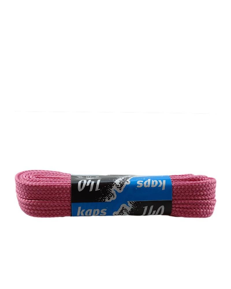 Różowe, płaskie sznurówki do butów, sneakers, 140 cm, Kaps