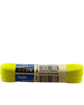 Żółte, płaskie sznurówki do butów, sneakers, 140 cm, Kaps