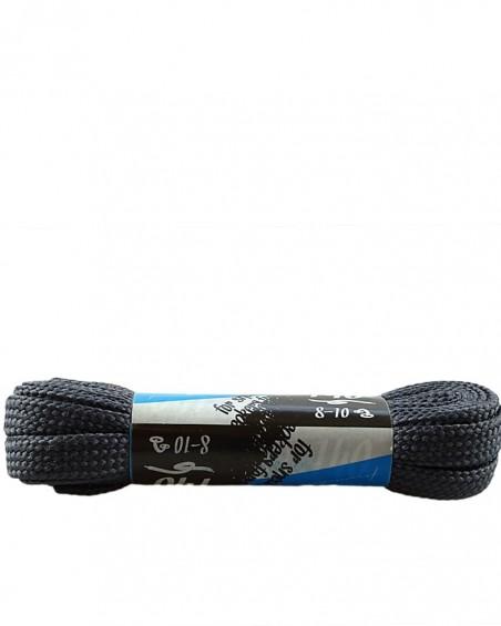 Szare, płaskie sznurówki do butów, sneakers, 140 cm, Kaps
