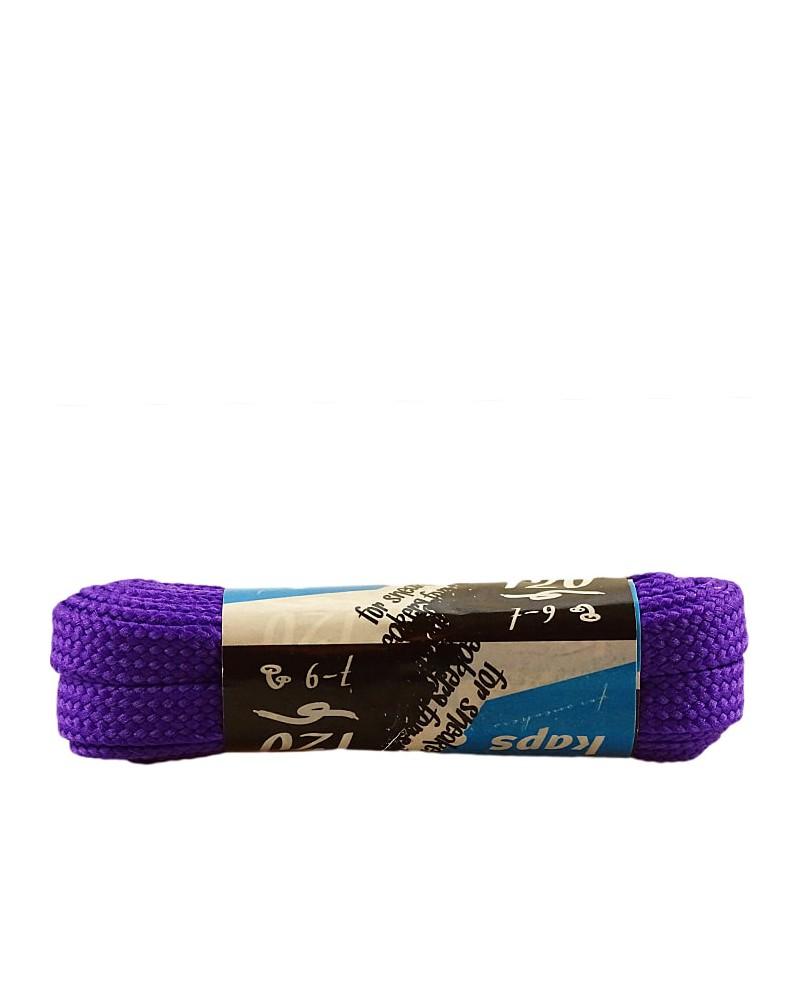 Fioletowe, płaskie sznurówki do butów, sneakers, 120 cm, Kaps