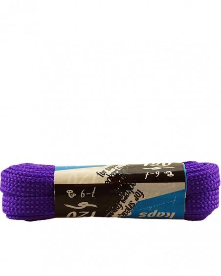 Fioletowe, płaskie sznurówki do butów, sneakers, 140 cm, Kaps