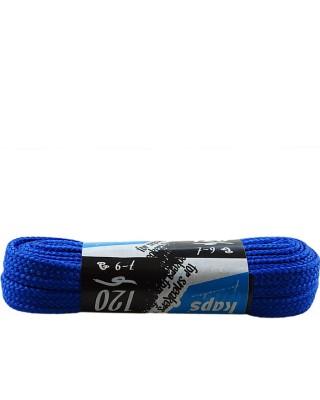 Niebieskie, płaskie sznurówki do butów, sneakers, 120 cm, Kaps
