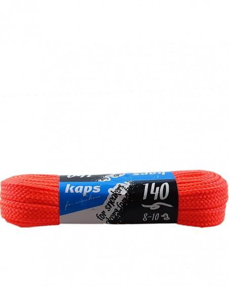 Pomarańczowe, płaskie sznurówki do butów, sneakers, 140 cm