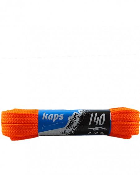 Pomarańczowe, neon, płaskie sznurówki do butów, sneakers, 140 cm
