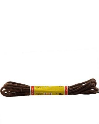 Brązowe, cienkie, sznurówki do butów, 120 cm, Mazbit