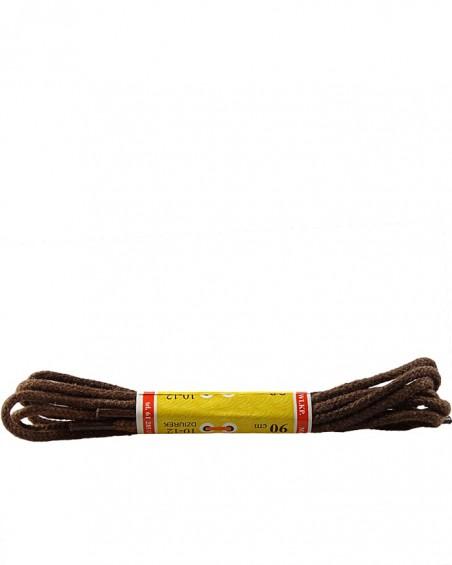 Brązowe, cienkie, sznurówki do butów, 45 cm, Mazbit