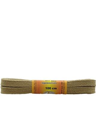 Beżowe sznurówki do butów, bawełniane, płaskie, 120 cm, Elbis