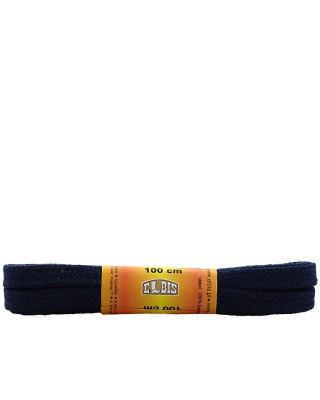 Granatowe sznurówki do butów, płaskie, 120 cm, Elbis