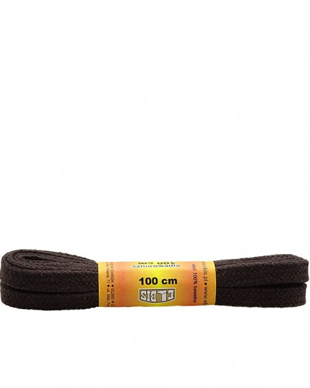 Ciemnobrązowe, płaskie, sznurówki do butów, 60 cm, Elbis