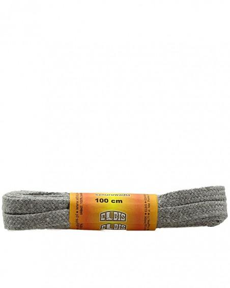 Jasnoszare, płaskie sznurówki do butów, 150 cm, Elbis