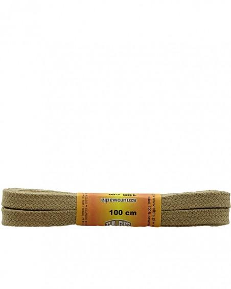 Beżowe, płaskie sznurówki do butów, 150 cm, Elbis