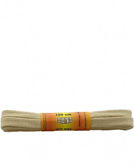 Jasnobeżowe, płaskie sznurówki do butów, 150 cm, Elbis