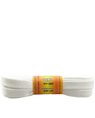 Białe, poliestrowe sznurówki do łyżew, rolek, 250 cm