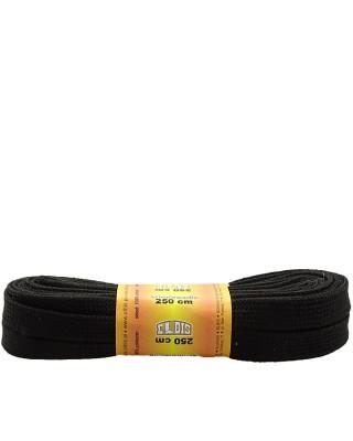 Czarne, poliestrowe sznurówki do łyżew, rolek, 250 cm