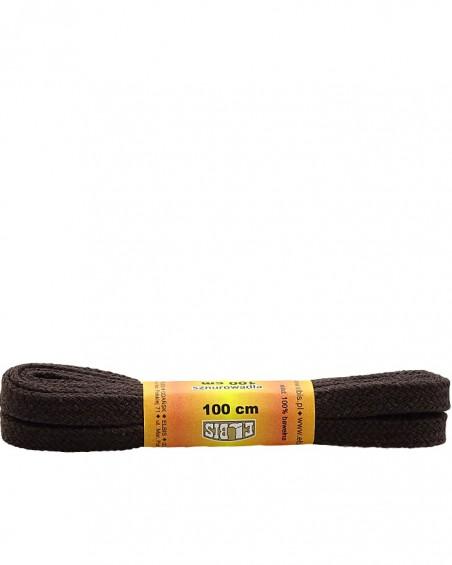Ciemnobrązowe, płaskie, sznurówki do butów, 75 cm, Elbis