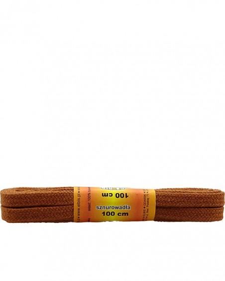 Koniakowe, płaskie sznurówki do butów, 150 cm, Elbis