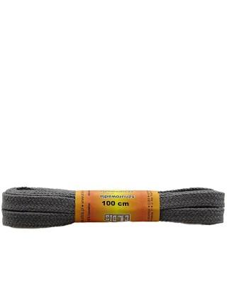 Ciemnoszare, płaskie sznurówki do butów, 100 cm, Elbis