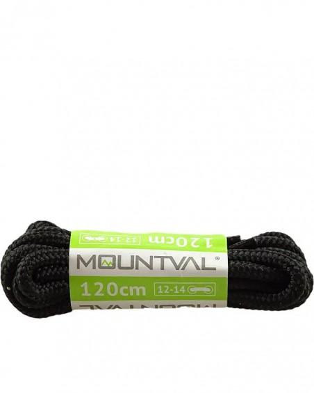 Czarne, trekkingowe sznurówki do butów, 90 cm, Mountval