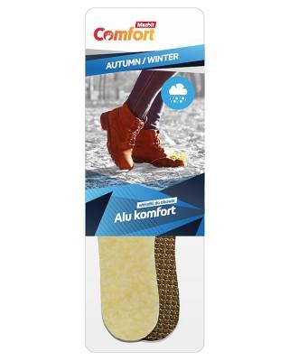 Wkładka do butów, zimowa, damska, naturalna wełna na aluminium, Mazbit