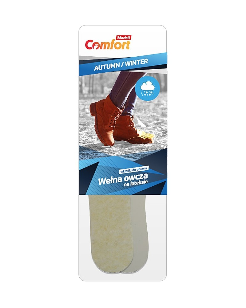 Wkładka do butów, naturalny filc na lateksie, męska, 092 Mazbit