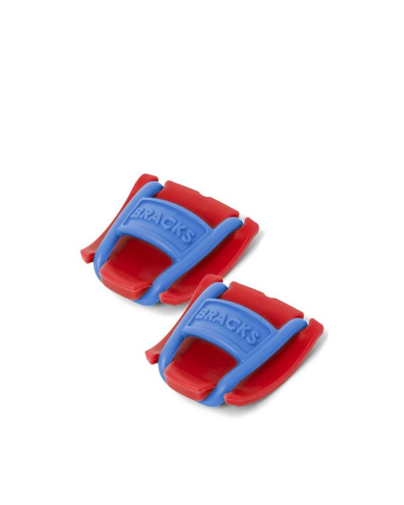 Klipsy do sznurowadeł Bracks czerwono-niebieskie
