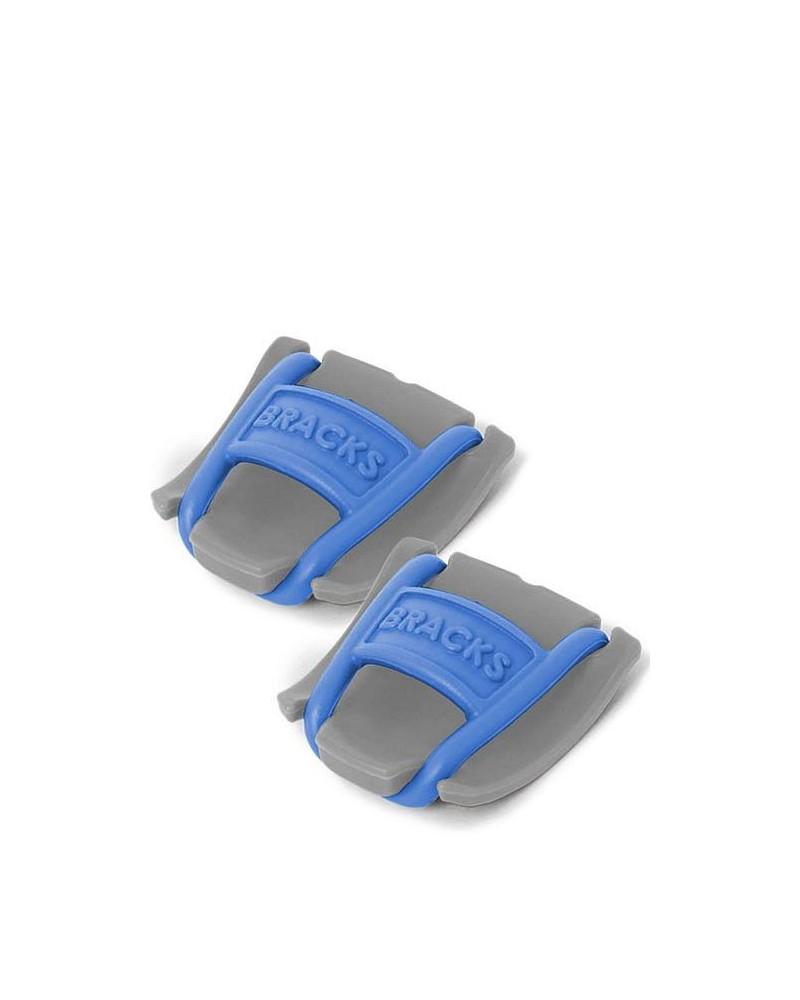 Klipsy do sznurowadeł Bracks szaro-niebieskie