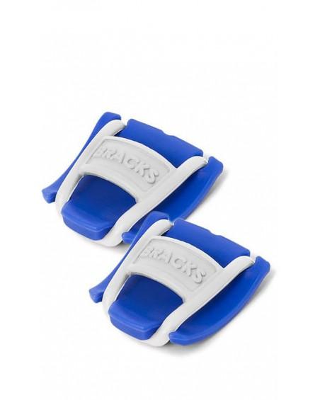 Klipsy do sznurowadeł Bracks niebiesko-białe