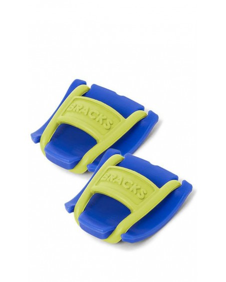 Klipsy do sznurowadeł Bracks niebiesko-cytrynowe