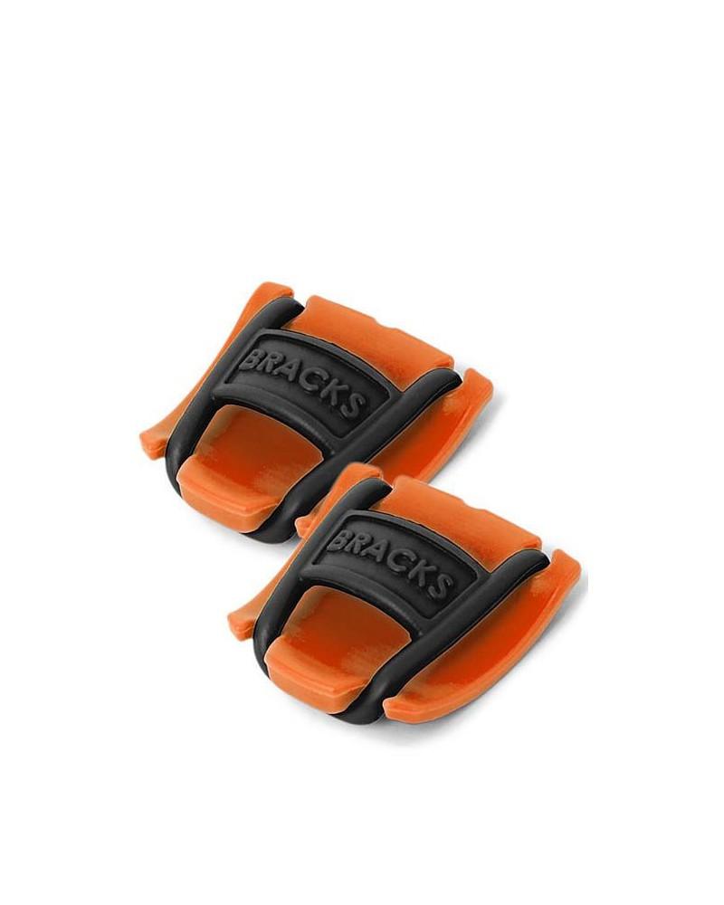 Klipsy do sznurowadeł Bracks pomarańczowo-czarne